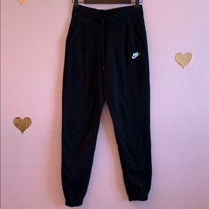 NIKE Black Joggers for women with tie waist